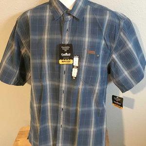 NWT Carhartt ripstop fabric blue plaid shirt L